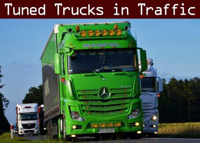 TUNED TRUCK TRAFFIC PACK BY TRAFFICMANIAC V1 0 | ETS2 mods
