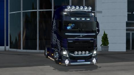 VOLVO 750 HP BLUE MULTIPLAYER 1 34 X | ETS2 mods | Euro