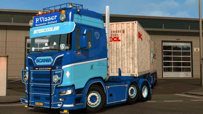 Welp SCANIA S P. VISSER 1.35 | ETS2 mods | Euro truck simulator 2 mods LZ-15