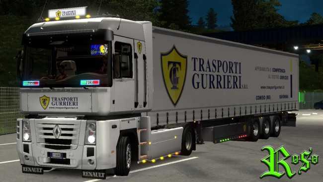 KRONE PROFILINER GURRIERI TRASPORTI SKIN + ACCESSORY 1 35 X | ETS2