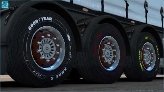 GOODYEAR DLC TRAILER TIRES V1 0   ETS2 mods   Euro truck