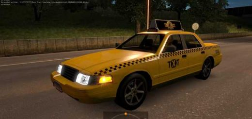 yellow-taxi-with-checkers-in-traffic-ets2-1-35-x-1-36-x_2