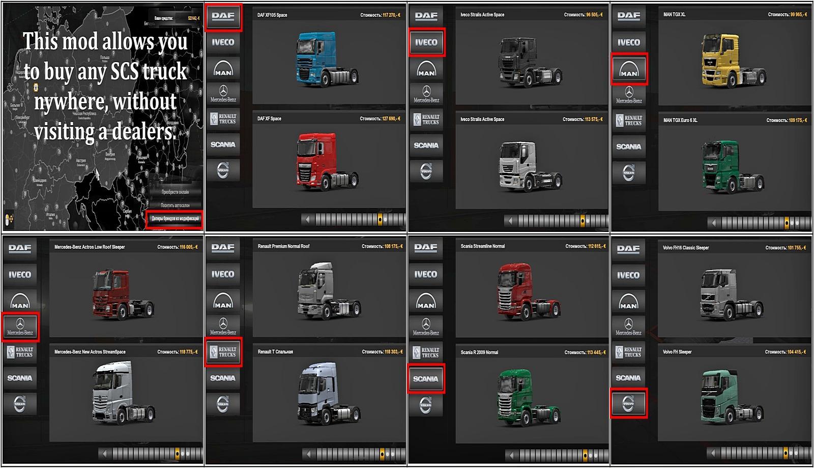 ETS2 SCS TRUCK DEALER 1.36.X   ETS2 mods   Euro truck ...